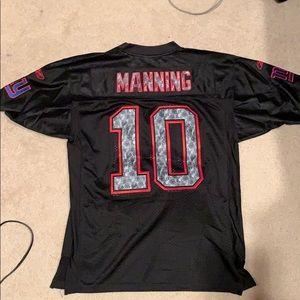 Reebok Tops - EUC black Eli Manning NY Giants jersey